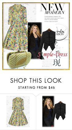 """""""simpledress#4"""" by perfectstyles-444 ❤ liked on Polyvore featuring modern, vintage and simpledress"""
