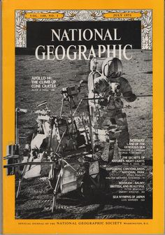 National Geographic July 1971 Vol. 140 No. 1 - Apollo 14, Norway, Sea Nymphs