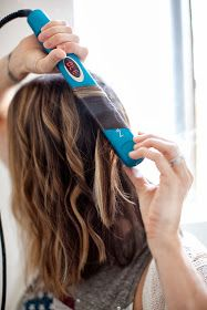 Place the straightener at the top of the sectioned hair. Then twist at an angle while moving the straightner downward towards the ends of your hair while slowly twisting.