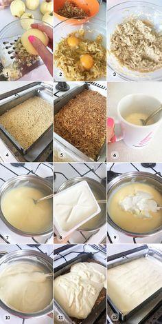 Jablečný řez kremšnit - foto postup receptu Recipes, Food, Recipies, Essen, Meals, Ripped Recipes, Yemek, Cooking Recipes, Eten