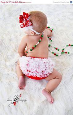 ON SALE Christmas Ruffle Bloomer Chiffon Ruffle par my2lilpixies