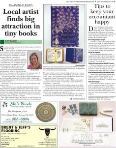 Los Alamos artist Devyn Samara makes adorable charms from favorite literary novels! Santa Ynez Valley Star April 2016  #charms #literary #bookcharms #losalamos #santaynezvalley #syvstar