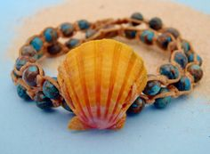 Sea sediment swirl gemstone and Langford's Pecten by HayleySommer