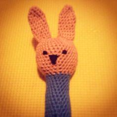Bunny rattle - crocheted
