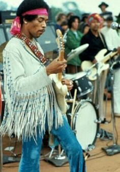 The Woodstock era emphasized hippie fashion, and fringe was among the most popular pieces. Several celebrities throughout the 1970s participated in this trend including Elvis, Jimi Hendrix, and Marie Osmond. Fringe could be seen on almost any garment, but was typically found on vests, jackets, tops of any style, purses, and belts. While Jimi Hendrix is wearing a white fringe jacket in this photograph, fringe could also be seen in several other colors and suede textures. Mikayla Newman…