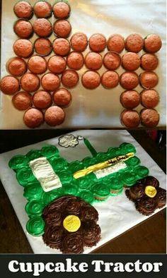 Cupcake tractor