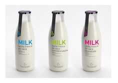 Fonction : La simplicité du packaing est parfaitement cohérente avec le positionnement du produit, du bon lait frais et rien d'autre.