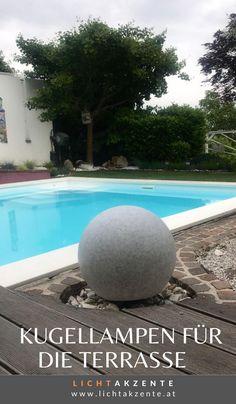 """Leuchtkugel """"Garden Ball"""" in Grau/Steinoptik, online kaufen bei Lichtakzente. Die Kugelleuchte bezaubert mit eindrucksvoller Steinoptik und erzeugt ein schönes Lichtambiente. Die Oberfläche der Bodenleuchte ist in granit - gesprengelten Kunststoff und sehr robust. Auch als Hauseingang Aussenbeleuchtung ist die Bodenlampe ein Hingucker. #garten #garten lampe #terrasse #gartenleuchten #outdoorleuchten #lichtakzente Outdoor Decor, Home Decor, Environment, Contemporary Light Fixtures, House Entrance, Balcony, Decoration Home, Room Decor, Home Interior Design"""