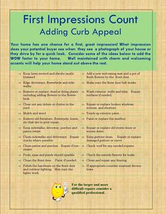 First Impressions Count - Adding Curb Appeal.    Ideas to make your home standout from the crowd.    #selling your home #curb appeal #real estate