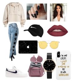 """😘😘"" by laianeira ❤ liked on Polyvore featuring Ivy Park, Sans Souci and NIKE"