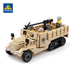 KAZI 2017 New 82003 205pcs Century Military USA M2 Half Track American Airborne Troops minis Building Toy Model  Christmas gift