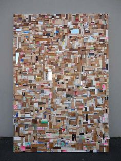 Nathan Cordero's art. A striking wood mosaic.