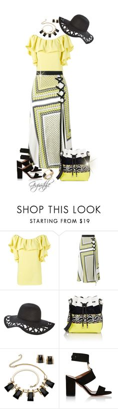 """Stepping Out"" by gigisstyle ❤ liked on Polyvore featuring P.A.R.O.S.H., MSGM, Proenza Schouler, Palm Beach Jewelry, Aquazzura and House of Harlow 1960"