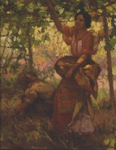 """Fernando Amorsolo y Cueto, Filipino painter, was an important influence on contemporary Filipino art and artists, even beyond the so-called """"Amorsolo school"""". Subjects: Philippine Genre, historical and society Portraits. Filipino Art, Filipino Culture, Pictures To Paint, Art Pictures, Art Pics, Munier, Philippine Art, Historical Art, Artists Like"""
