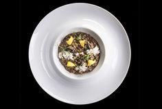 Francesco Oberto   Risotto, lumache, aglio nero, scorza di limone   Ristorante Da Francesco   foto Lido Vannucchi