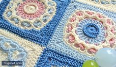 MyPicot artists are internet famous for the fabulous patterns and the colorways they choose. Their imagination has no limits and their creation flow endlessly. One beautiful free crochet pattern after another! Really unusual and beautiful, this Square Crochet Motif by MyPicot is delicate and elegant. This beautiful afghan block is perfect for the most adorable …