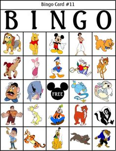 We played Disney bingo during Disney Week. Surprisingly, the kids had a little bit of trouble. Disney Diy, Walt Disney, Disney Crafts, Disney Love, Disney Magic, Disney Pixar, Disney Activities, Disney Games, Disney Theme