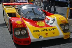Porsche Le Mans racer on the Dunlop stand at Goodwood FoS 2008