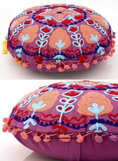 New 22 Square Ottoman Pouf Cover Floor Pillow Pink Ombre Room Decorative Covers Cover Seat Covers Floor Decoration Cushion Cover Pouffes