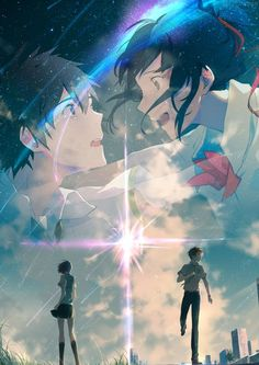 your name kimi no na wa - your name _ your name wallpaper _ your name anime _ your name aesthetic _ your name kimi no na wa _ your name quotes _ your name wallpaper aesthetic _ your name mitsuha Manga Anime, Film Manga, Film Anime, Anime Music, Anime Love, Mitsuha And Taki, Kimi No Na Wa Wallpaper, Photo Manga, Your Name Anime