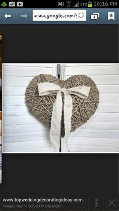 Rustic heart wedding decor