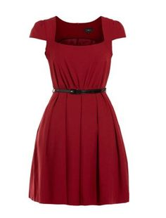 dress from New Look Short Sleeve Dresses, Dresses With Sleeves, Cap Sleeves, New Look, Dresses For Work, My Style, Red, How To Wear, Women