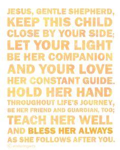 Christian Word Art ~ Prayer for a young girl. www.enduringarts.etsy.com