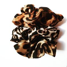 3 Scrunchies | Animal Print Beautiful Soft Scrunchies  Our Premium scrunchies are much kinder than regular elastics = less snags and breakage. Super comfortable to wear! They won't snap or break and will easily become your favourite everyday hair tie!   ♥Our premium OEKO-TEX Certified elastic that we use sets us apart from others. ♥Soft & stretchy and extremely gentle to your hair and skin. ♥Super comfortable to wear. ♥Perfect for working out, and everyday use. ♥Great for all hair types…