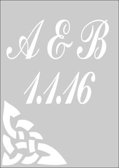 New to westlondonlaser on Etsy: Wedding Stencil - Celtic Save The Date in Reuasble Mylar (4.99 GBP)