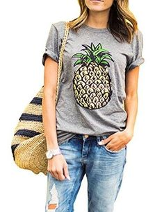 $ 11.96 Haola Women's Summer Street Printed Tops Funny Juniors T Shirt Short Sleeve Tees.Color: Black,Grey,WhiteCool,Awesom,Funny,Graphic Tee for Women, with Trendy and Funny Quote.Great for Summer,Winters,Fall,Beach and Casual Wear.