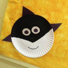 Cute shark from a paper plate