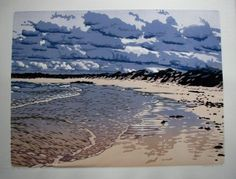 Die Dam, Joshua Miles, reduction woodcut