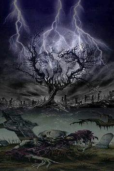 Skeleton Drawings, Skeleton Art, Dark Artwork, Skull Artwork, Halloween Artwork, Halloween Photos, Moonlight Tattoo, Graveyard Tattoo, Smoke Painting