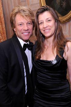 Jon Bon Jovi and Dorothea Hurley, high school sweethearts married since 1989- married- married 20 years