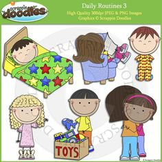 Daily Routines 3 Clip Art