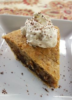 Kentucky Derby Pie with Bourbon Whipped Cream | Plain Chicken. I just use vanilla in the cream. Delicious.