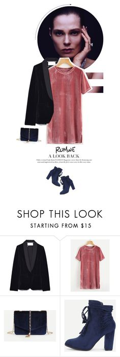 """""""A look back #Romwe X"""" by juhh ❤ liked on Polyvore"""