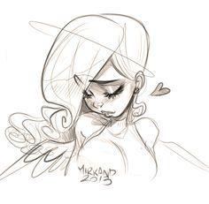 Girl sketch, drawing / Ragazza, bozzetto, schizzo, disegno - Art by Mirkand (Sacro / Profano 2013)