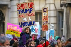 London: This woman wrote 'shut up Trump and make me a sandwhich'
