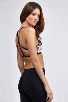 <p>The Stella Bra Top from Body Language is fully reversible and features mesh inserts for breath...