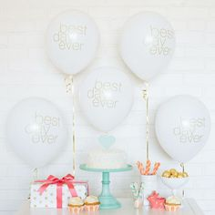 Best Day Ever Balloons (also in pink/gold)