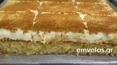 Kalabaka's sweet pastry - TasteDriver by Sissy Nika Greek Sweets, Greek Desserts, Greek Recipes, Sweets Cake, Cupcake Cakes, Food Network Recipes, Food Processor Recipes, Hummingbird Cake Recipes, Low Calorie Cake