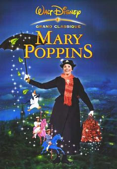 Mary Poppins Poster, Film, Walt Disne, Julie Andrews, Magic, Disney, Ten Random Facts.