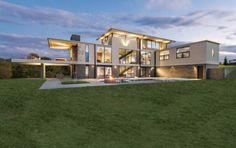 WhippleRussell Architects have recently completed Walker Road, a three-storey home in the Great Falls area of Virginia, a suburb of Washington D. Bauhaus Interior, Three Story House, West Coast Living, Small Sitting Areas, Modern House Floor Plans, Hillside House, Washington, Storey Homes, Elizabeth Banks