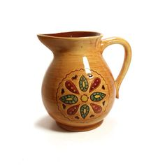 Milk Pitcher Pennsbury Pottery Pennsbury Pitcher Pennsylvania Dutch Folk Art Pottery Amish Country Decor Primitive by BatnKatArtifacts