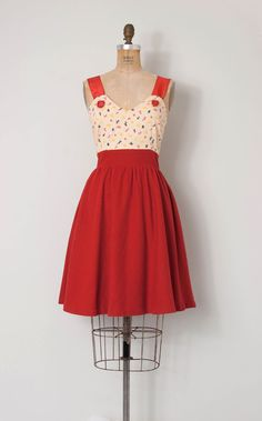 vintage 1960s does the 1940s dress / novelty print by SwaneeGRACE