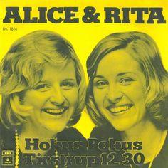 """Hokus Pokus. Single med Alice og Rita. B-siden hedder """"Tirstrup 12:30""""  Har købt sangen på iTunes. Leder efter singlen."""