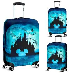 DN MOON B.L – Vepats.com | Have Simple Your Way Best Luggage, Luggage Cover, Disney Luggage, Shipping Date, Polyester Spandex Fabric, Disney Disney, Disney Inspired, Snug Fit, Suitcase