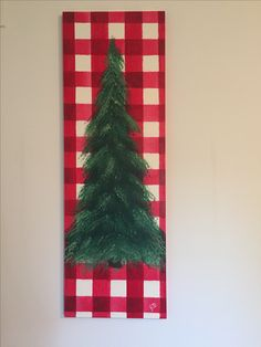 Buffalo plaid tree