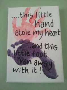 of The BEST Hand and Footprint Art Ideas! Kids crafts with homemade cards, canvas, art, paintings, keepsakes using hand and foot prints! Kids Crafts, Daycare Crafts, Baby Crafts, Toddler Crafts, Crafts To Do, Preschool Crafts, Projects For Kids, Toddler Art, Family Art Projects